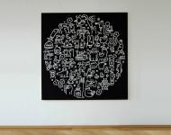 Acryl auf Leinwand, 150 x 150 cm