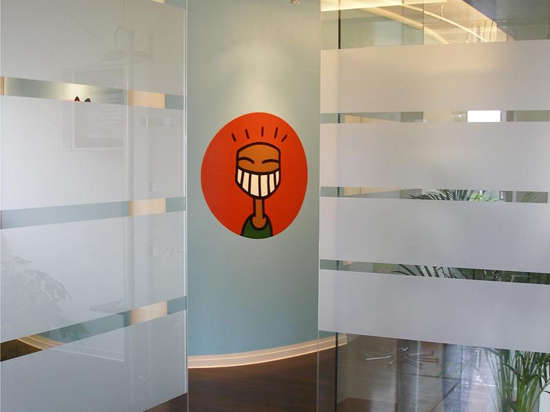 Wandgestaltung der Praxisräume