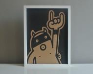 Acryl auf Pappe | 40 x 30 cm | gerahmt