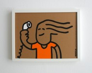 2016 Original, Acryl auf Pappe, gerahmt 30 x 40 cm Signiert und datiert