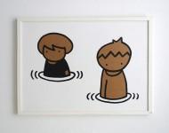 Acryl auf Pappe   gerahmt, 50 x 70 cm   Signiert und gestempelt