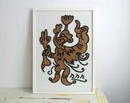 Acryl auf Pappe   gerahmt, 70 x 50 cm   Signiert und gestempelt
