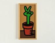 ORGANIC POP! | Acryl auf Pappe, 50 x 23 cm, gerahmt | Signiert und datiert