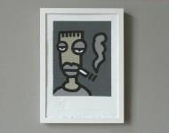 2017 | Acryl auf Pappe, gerahmt | 30 x 21 cm | Signiert und datiert